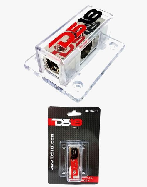 DS18 DB1024 Power Ground Distribution Block 0GA In 2 4GA Out 1X0GA In – 2X4GA
