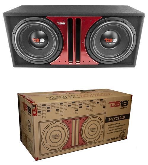 "DS18 Z-VX Dual 12"" Bass Sub woofer 2900W DVC 4-ohm In Ported MDF Box"