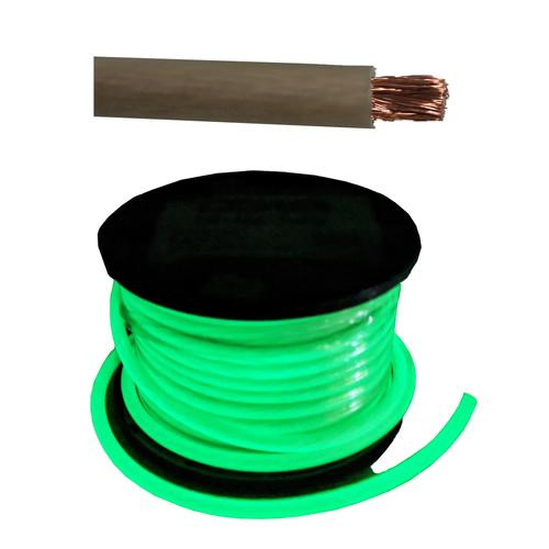 50 FT DS18 1/0 AWG Copper Clad Aluminum Glow In The Dark Power Ground Wire