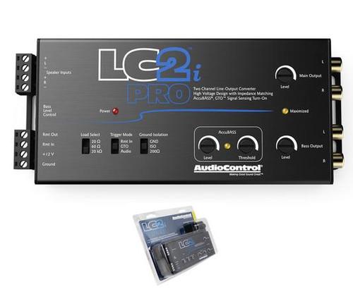 AudioControl 2 Channel Line Output Converter w/ AccuBass & ACR-1 Remote LC2i PRO