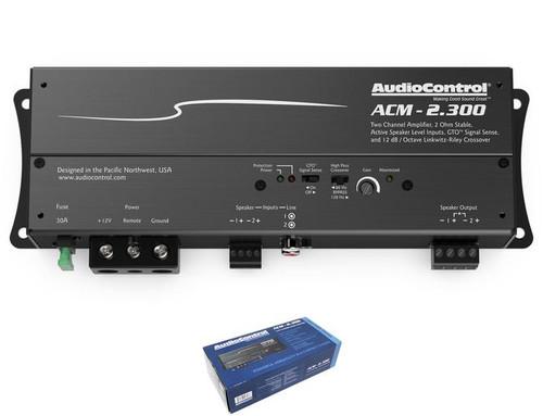 AudioControl 2 Channel 2 Ohm Stable Micro Class D Motorcycle Amplifier ACM-2.300