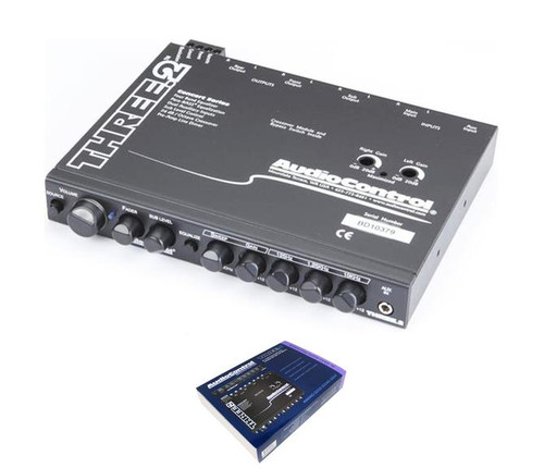 AudioControl In-Dash Equalizer w/ Crossover and Dual Aux Inputs THREE.2