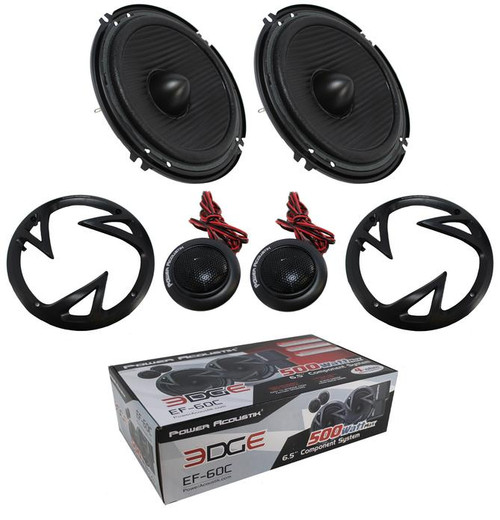 "Power Acoustik 6.5"" Edge Series EF-60C 500W 2-Way Car Audio Full Range Component Speakers"