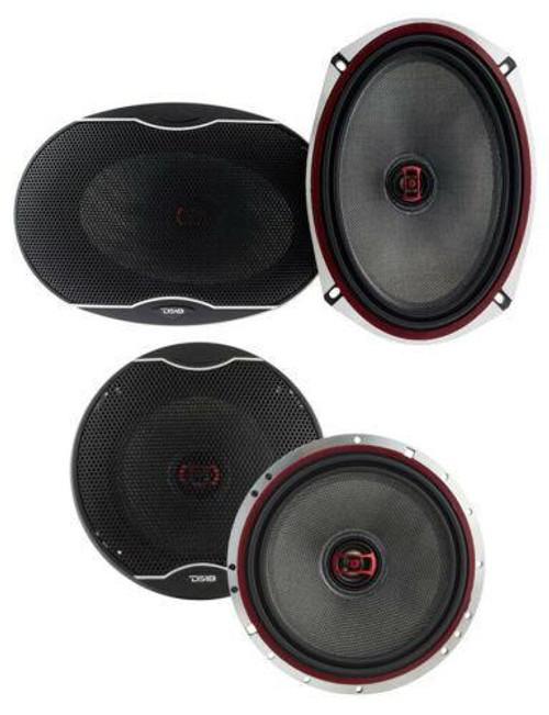 """DS18 EXL-SQ 6x9"""" + 6.5"""" Car Audio Door Speakers Combo 1920 Watts Coaxial"""