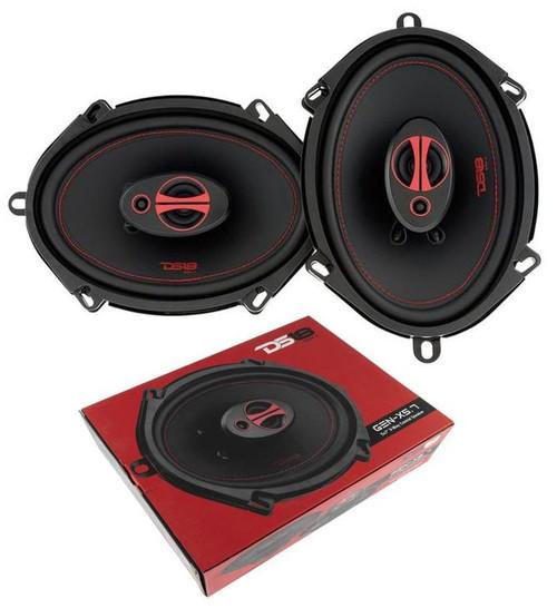 """GEN-X5.7 DS18 5 x 7"""" 3-way Car Door Speakers 300 Watts 4 Ohm Coaxial Speakers"""