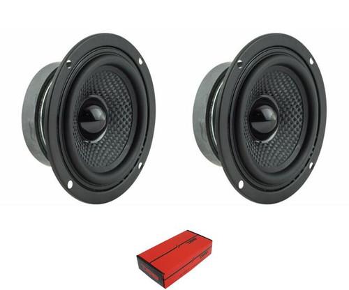 """3.5"""" Car Full Range Loud Speakers - 4 Ohms 100 Watts 4 Ohm DS18 Elite Z-354"""