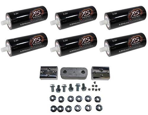 6 XS Power 66160 2.3V 40 AH Lithium Batteries + 40ah 6 Cell Bank DIY Kit