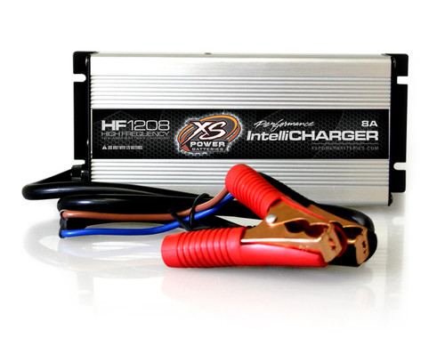 XS Power HF1208 12V High Frequency AGM Battery IntelliCharger, 8 Amp