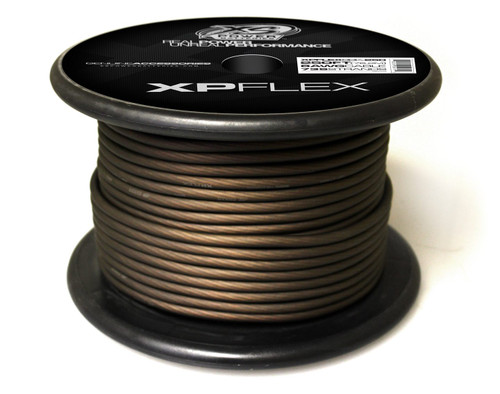 XS Power 4 AWG Cable, 2009 Strands, 10% OFC, 90% CCA, Iced Black, 100' Spool