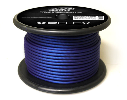 XS Power 8 AWG Cable, 735 Strands, 10% OFC, 90% CCA, Iced Blue, 250' Spool