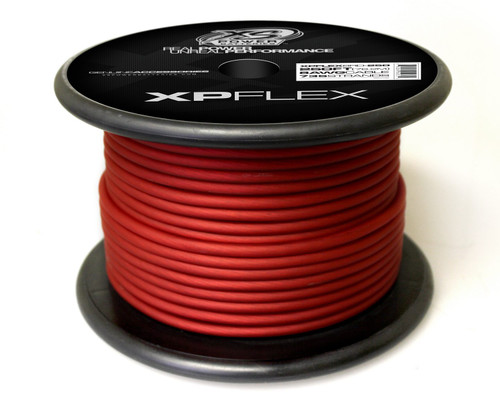 XS Power 8 AWG Cable, 735 Strands, 10% OFC, 90% CCA, Iced Red, 250' Spool
