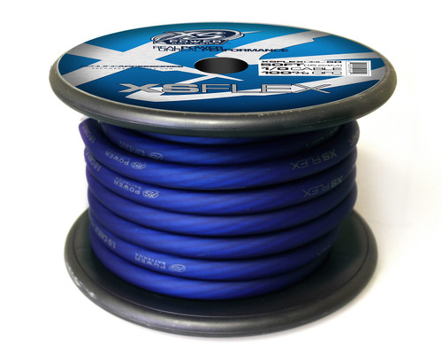 XS Power 1/0 Cable, 100% Oxygen Free Tinned Copper, Iced Blue, 50' Spool