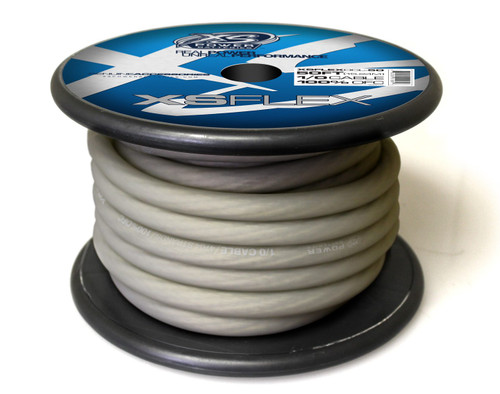 XS Power 1/0 Cable, 100% Oxygen Free Tinned Copper, Iced Clear, 50' Spool