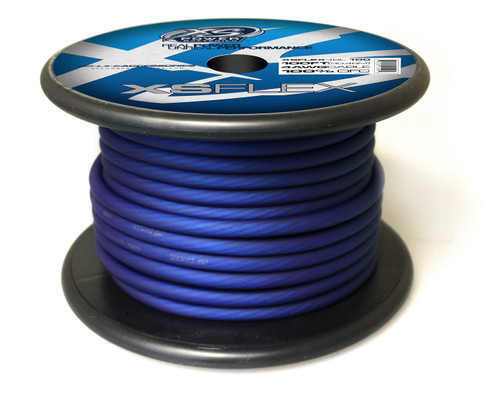 XS Power 4 AWG Cable, 100% Oxygen Free Tinned Copper, Iced Blue, 100' Spool