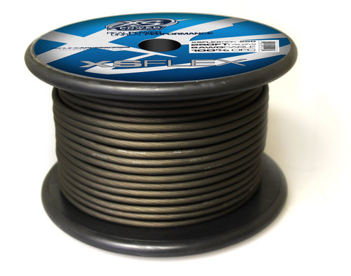 XS Power 8 AWG Cable, 100% Oxygen Free Tinned Copper, Iced Black, 250' Spool