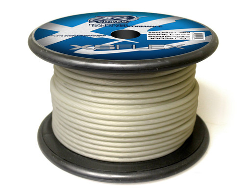 XS Power 8 AWG Cable, 100% Oxygen Free Tinned Copper, Iced Clear, 250' Spool