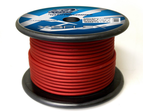 XS Power 8 AWG Cable, 100% Oxygen Free Tinned Copper, Iced Red, 250' Spool