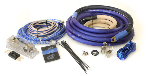 XS Power Amp Kit, XP Flex 1/0 AWG, Power Cable, Speaker Cable, Signal and Remote