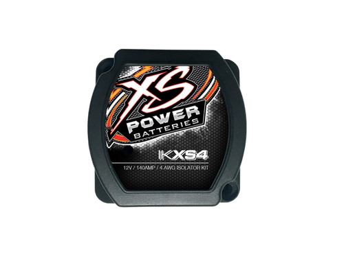 XS Power IKXS4 Battery Isolator Kit, 140A, XS Flex 4 AWG, Red Power, Black Ground, with Terminals