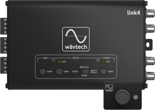 Wavtech link4 Active 4-channel Line Output Converter w/ Signal Summing