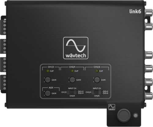 Wāvtech link6 Active 6-channel Line Output Converter w/ Signal Summing & Multi-Function Remote Control