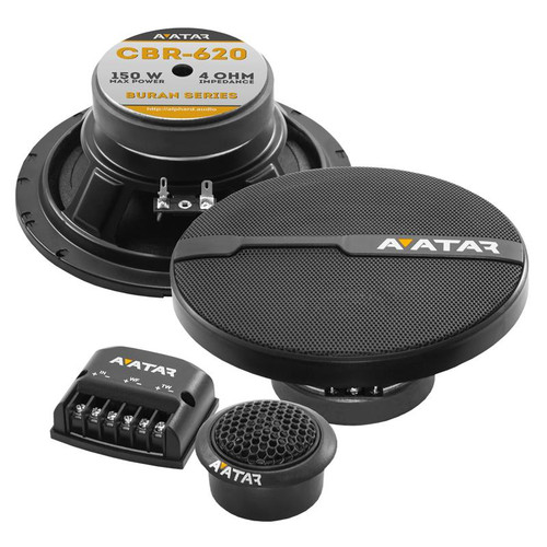 "Avatar CBR-620 6.5"" 150 Watt 4 Ohm 2-Way Component Speaker Series Buran Series"