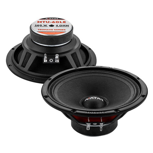 "Avatar Tsunami MTU-60LE Black 160 Watts 4-Ohm 6.5"" Mid-Range Speakers"