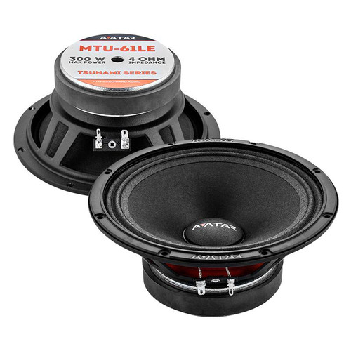 "Avatar Tsunami MTU-61LE Black 300 Watts 4-Ohm 6.5"" Mid-Range Speakers"