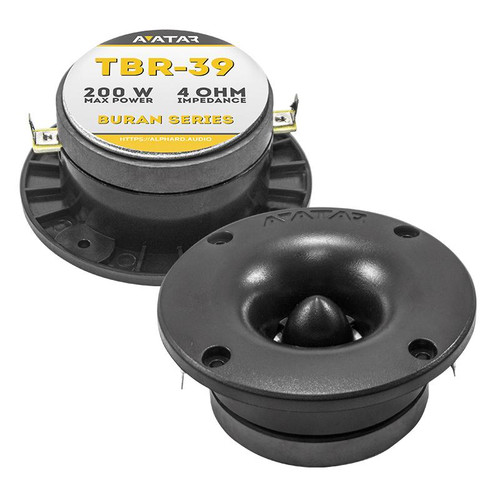 "Avatar TBR-39 Black 1"" VC 200 Watt 4 Ohm High Frequency Bullet Tweeter"