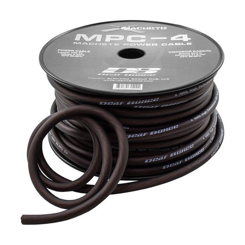 Deaf Bonce Machete Series MPC-4 4AWG 100FT OFC Power Wire