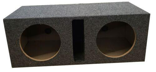 "Q Bomb Dual 12"" Speaker Box Slot Ported Chamber 5/8 True MDF Sub woofer Enclosure"