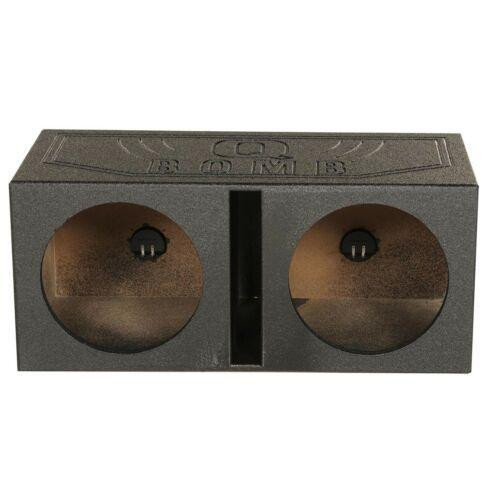 """QPower Q Bomb Dual Vented 10"""" Rhino Coated Speaker Box Ported Chamber Sub Woofer Enclosure"""