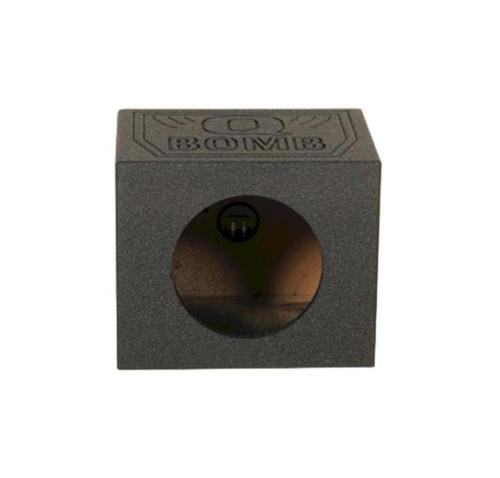 "QPower QBomb QB10SSINGLE Rhino Coated 10"" Single Speaker Sealed Box Enclosure"