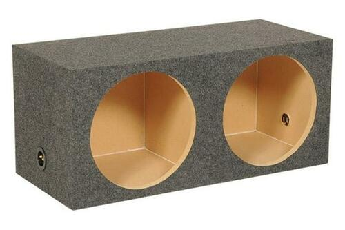"""QPower Dual 12"""" Carpeted Heavy Duty Sealed Subwoofer Enclosure 1"""" MDF HD212  Universal 12"""" 2-Hole Sealed Heavy Duty Subwoofer Box by QPower®. This top-grade product is expertly made in compliance with stringent industry standards to offer a fusion of a well-balanced design and high level of craftsmanship. Manufactured from industry-leading materials using up-to-date equipment, it ensures everlasting reliability and enduring value. This product is distinguished by total quality assurance, unsurpassed by anybody else."""