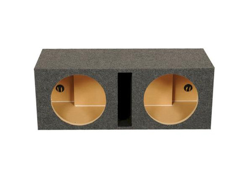 """QPower Dual 12"""" Carpeted Heavy Duty Vented Subwoofer Enclosure 1"""" MDF HD212  Introducing the Universal HD212 Vented Dual Enclosure from QPower! A Carpeted 12"""" Dual enclosure that is perfect for subwoofers. This top-grade product is expertly made in compliance with stringent industry standards to offer a fusion of a well-balanced design and high level of craftsmanship. Manufactured from industry-leading materials using up-to-date equipment, it ensures everlasting reliability and enduring value. This product is distinguished by total quality assurance, unsurpassed by anybody else. more details on"""