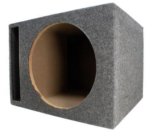 """QPower Single Vented 12"""" Carpeted Speaker Box Ported Chamber Sub Woofer Enclosure"""