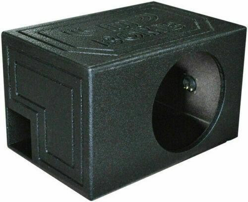 """QPower Single Vented 12"""" Rhino Coated Speaker Box Ported Chamber Sub Woofer Enclosure"""