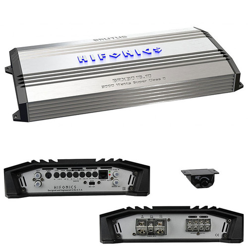 Hifonics 3000 Watt Brutus Mono Super D-Class™ Subwoofer Amplifier, BRX3016.1D  When it is time for some serious power for your car audio system, Hifonics is the way to go. The Brutus Series Amplifiers are in line with the high power output that Hifonics is known for.  Incorporating Super D-Class circuitry allows for dedicated, efficient power for higher bass response without sacrificing sound pressure. The Ultra-Fi MOSFET outputs chosen for the Brutus Series are typically used for music production where high power, efficient cooling and minimal distortion are key. They allow these amps to produce high power with minimal distortion.  The included bass knob can allow you to adjust your bass to match any genre of music you listen to. The Brutus Series also has RCA outputs for daisy chaining multiple amps together for even more power. Designed to get loud, the Brutus Series Amplifiers are ideal for a pounding audio system!