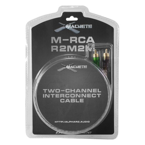 Deaf Bonce Machete M-RCA R2M2M 17 ft 2 Channel Male Interconnect RCA Cables   This Listing Includes: (1) Amplifiers  Features: - Two Channel Interconnect Cable - Compact Cast RCA Connectors - Tinned OFC Central Conductor - Flexible Insulation, Woven Screen - Gauge - 31 AWG x 2  Length: 17 Foot