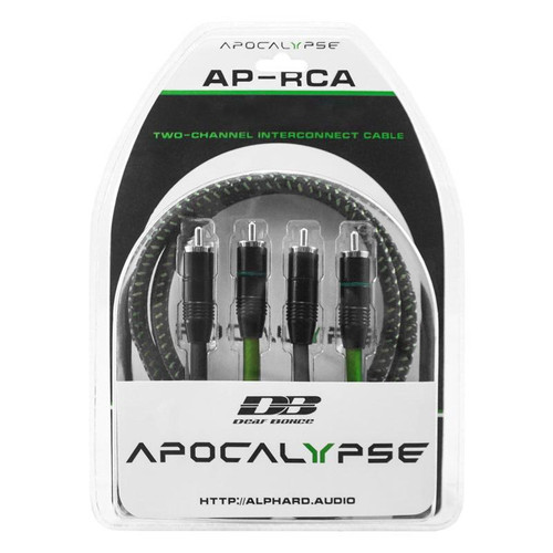 Deaf Bonce Apocalypse AP-R1101 3 ft 2 Male to 2 Male Interconnect RCA Cables   This Listing Includes: (1) RCA Cables  Features: - Two-channel interconnect cable - RCA connectors 2 male+2male - Tinned OFC central conductor - Flexible nylon mesh insulation, woven screen - Gauge-21 awg x 2  Length: 3 FT