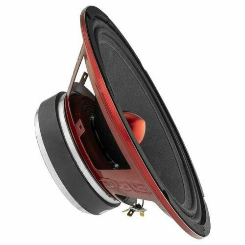 """PRO-X10BM Type: Midrange Loudspeaker with Bullet Size: 10"""" RMS Power: 300 W Each Speaker MAX Power: 600 W Each Speaker Frequency Response: 77-11.2 KHz Impedance: 8 ohm Sensitivity: 98 dB Materials Surround: Cloth Edge Frame: Red Steel Basket Cone: Non-Pressed Paper Cone Magnet: Ferrite Voice Coil Wire: KCCAW Diameters Voice Coil Size: 2"""" Magnet Size: 41 oz Mounting Depth: 3.74"""" (95 mm) Cut-Out Dimension: 9.13"""" (232 mm)  Includes: x1 - DS18 Pro-X 10"""" Midrange speaker"""