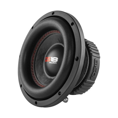 "8"" Subwoofer 400W 4 Ohm Single Voice Coil Bass Pro Car Audio DS18 SLC-8S  The Select Series Subwoofers come in 8"", 10"", and 12"" in black steel baskets. DS18 understands the demands of many inexperienced car audiophiles and fiscally responsible deal-finders. These subwoofers' success relies in their ability to deliver better quality and RMS power than all other entry level offerings of their competition.  This listing includes: (1) DS18 SLC-8S 8"" Subwoofer  SLC-8S  Specifications: 8"" Subwoofer Single 4 Ohms Black Color Steel Basket Impedance 4 Ohms Sensitivity: 84 dB  200 Watts RMS Power Per Woofer 400 Watts Max Power Per Woofer Frequency Response: 40-4.5 kHz 38 Oz. High Strength Ferrite Magnet 2"" Black Aluminum 4 Layer Voice Coil Foam Edge and Paper with Glass Fiber Cone Mounting Depth: 3.85"" Diameter: 8.31"" Baffle Cut: 7.20"""