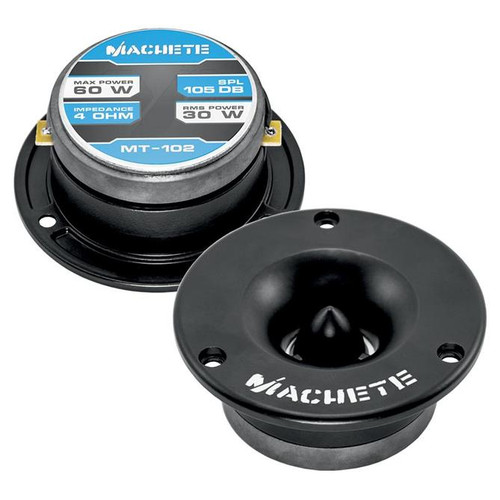 "Deaf Bonce Machete MT-102 Black 1"" VC 120 Watt 4-Ohm High Frequency Bullet Tweeter"