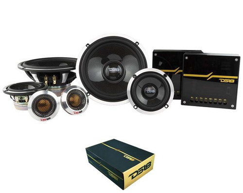 "DS18 Deluxe DX3N 6.5"" 580 Watts 4 Ohm 3-Way Neodymium Component Speaker System"