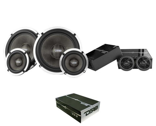 "DS18 Deluxe DX3 6.5"" 580 Watts 4 Ohm 3-Way Component Speaker System"