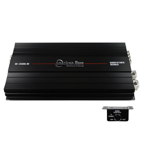 American Bass Godfather 3500.1 Class D Monoblock Amplifier, 3047 Watts RMS, 1 Ohm Stable