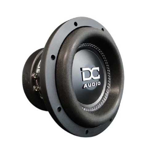 """DC Audio DC-M3 8"""" 1200 Watt Dual 4 Ohm Voice Coil Subwoofer  The m3 8 is an 8"""" long X-Max subwoofer. Long hours in the R&D department is what it took to develop the newest version of our 8"""" subwoofer. We designed a tall roll-stitched surround, oversized spiders, and a tall cast frame that allows for extreme amounts of cone travel. All of these newly designed parts allow for lower frequency reproduction. The bolted-down spaced spider design keeps it all linear. The m3 8 uses a gap-cooled design to allow the 2"""" copper coil to thermally take more power than other 2"""" coil motors with the traditional pole venting.  This Listing Includes: (1) Subwoofer  Features: - Extremely rigid non-pressed paper cone assembly - High Roll Stitched Multilayered reinforced polymer foam surround - Rigid propylene dust cover with White DC logo - Bolted down & spaced Linear roll spiders - Sewn flat heavy-duty tinsel lead wire - Custom Cast aluminum black frame - FEA analyzed and optimized motor assembly - Fully CNC machined - Rubber mounting gasket and custom tooled motor boot. - DVC 2.0"""" Copper voice coil."""