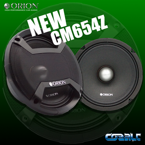 """Orion Cobalt CM654Z Pair of 6.5"""" Midrange Speaker, 300W RMS, 4 Ohm  The Orion Cobalt CMZ654Z sets itself apart by using the highest quality control and raw materials available for it's high-end technology. With a 1.5"""" high temp voice coil this midrange is ready to handle the majority of applications and still provide excellent sound quality without breaking a sweat!  Brand: Orion Car Audio Series: Cobalt Model: CM654Z Freq: 100HZ - 12.5KHz Efficiency: 97.89dB 1w/1m Voice Coil: 1.5"""" High Temperature Impedance: 4 Ohm Power Handling: 300 Watts RMS / 600 Watts Nominal / 1200 Watts Max Includes: x2 - CM654Z Midrange Drivers, Molded Custom Grills   We are an authorized dealer for Orion Car Audio products."""