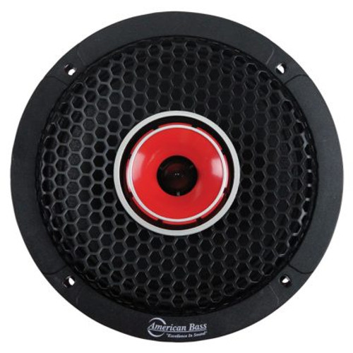"American Bass Godfather 6.5"" Hybrid Coaxial Midrange w/ Bullet Style Tweeter, 120W RMS, 4 Ohm, NEW 2021 Model  Technical Specs:  Brand: American Bass USA Series: Godfather Model: GF-6.5-MR Freq. Response: 100HZ-20KHZ Impedance: Single 4 Ohm Motor: N38 Neodymium Motor Structure Sensitivity: 103dB Power Handling: 120W RMS / 240W Max (Each) SOLD INDIVIDUALLY    Features:   22Oz. Y35 High Energy Motor 1.5"" High Temperature CCAW Voice Coil Polycotton Spider with Leads Paper Cone with Cloth Edge Stamped Duty 6.5"" Basket  Woofer Physical Specifications:  Overall Diameter: 167mm Mounting Depth: 77mm  Cutout Diameter: 147mm Magnet Depth: 20mm    Click here to download tech sheet included with each item:"
