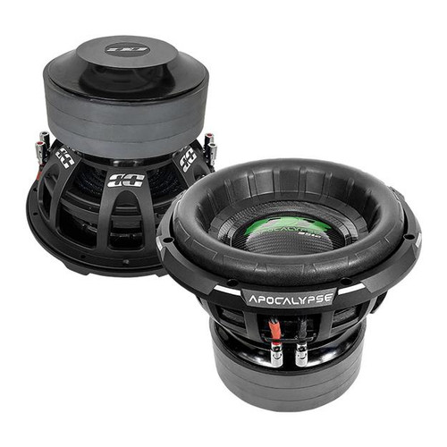 """Deaf Bonce Apocalypse DB-3512R D1/D2 12"""" Subwoofer, 3500W/7000W  New 2021 """"R"""" Series Model Subwoofer  Specifications ModelDB-3512R D1 / DB-3512R D2 TypeSubwoofer Size15 inch Voice coil size3.50 inch ConeCarbon MagnetFerrite Voice coil wireNone SurroundFoam RMS Power3500 W MAX Power7000 W FrameAlu Impedance1+1 / 2+2 Ohm SPL86.80 dB Fs32.50 Hz Qts0.39 BL24.80 Vas28.90 L Xmeh45.00 mm Xmax22.50 mm Mounting depth9.6 inch (244.0 mm) Cut-out dimension11.18 inch (284.0 mm)"""